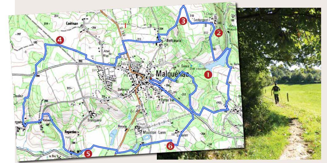 Circuit tour du bourg Malguénac